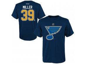 Dětské tričko Ryan Miller St. Louis Blues NHL Name & Number (Velikost Dětské L (11 - 12 let), Distribuce USA)
