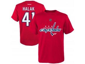 Dětské tričko Jaroslav Halák Washington Capitals NHL Name & Number (Velikost Dětské L (11 - 12 let), Distribuce USA)