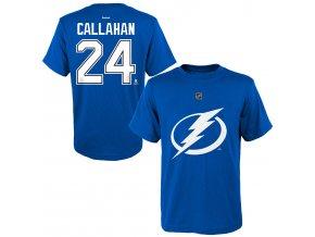 Dětské tričko Ryan Callahan Tampa Bay Lightning NHL Name & Number (Velikost 4 roky, Distribuce USA)