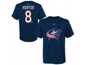 Dětské tričko Nathan Horton Columbus Columbus Blue Jackets NHL Name & Number (Velikost Dětské L (11 - 12 let), Distribuce USA)