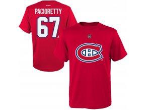 Dětské tričko Max Pacioretty Montreal Canadiens NHL Name & Number (Velikost Dětské L (11 - 12 let), Distribuce USA)
