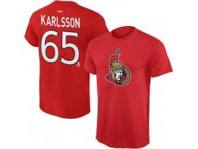 Dětské tričko Erik Karlsson Ottawa Senators NHL Name & Number (Velikost Dětské L (11 - 12 let), Distribuce USA)