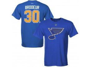 Dětské tričko Martin Brodeur St. Louis Blues NHL Name & Number (Velikost Dětské L (11 - 12 let), Distribuce USA)