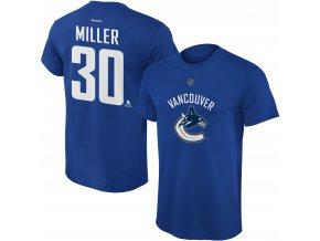 Dětské tričko Ryan Miller Vancouver Canucks NHL Name & Number (Velikost Dětské L (11 - 12 let), Distribuce USA)