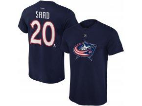 Dětské tričko Brandon Saad Columbus Blue Jackets NHL Name & Number (Velikost Dětské L (11 - 12 let), Distribuce USA)