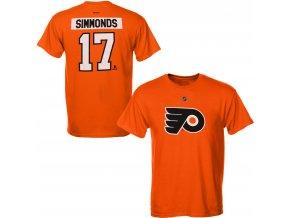 Dětské tričko Wayne Simmonds Philadelphia Flyers NHL Name & Number (Velikost Dětské L (11 - 12 let), Distribuce USA)