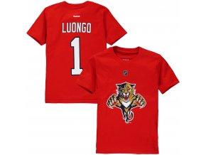 Dětské tričko Roberto Luongo Florida Panthers NHL Name & Number (Velikost Dětské L (11 - 12 let), Distribuce USA)