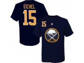 Dětské tričko Jack Eichel Buffalo Sabres NHL Name & Number (Velikost Dětské L (11 - 12 let), Distribuce USA)