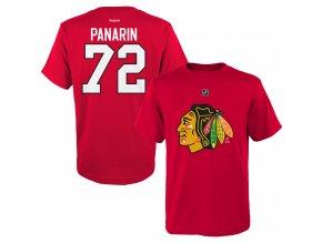 Dětské tričko Artemi Panarin Chicago Blackhawks NHL Name & Number (Velikost Dětské L (11 - 12 let), Distribuce USA)