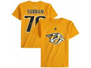 Dětské tričko PK Subban Nashville Predators NHL Name & Number (Velikost Dětské L (11 - 12 let), Distribuce USA)