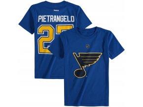 Dětské tričko Alex Pietrangelo St. Louis Blues NHL Name & Number (Velikost Dětské L (11 - 12 let), Distribuce USA)