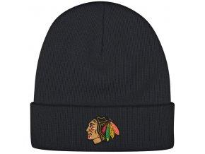 Kulich Chicago Blackhawks Reebok Basic Logo - Černá