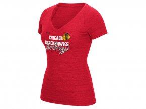 Dámské tričko Chicago Blackhawks Reebok Laced Up