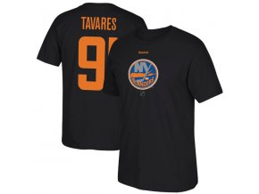 Tričko John Tavares #91 New York Islanders Reflect Logo Name & Number