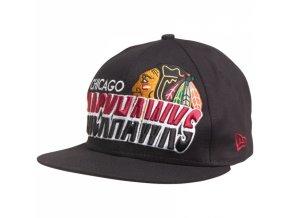 new era nhl 9fifty team horizon chicago blackhawks snap back cap blue small raw