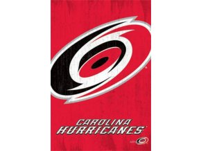 NHL Plakát Carolina Hurricanes Team Logo Cut