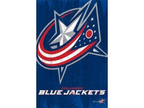 NHL Plakát Columbus Blue Jackets Team Logo Cut