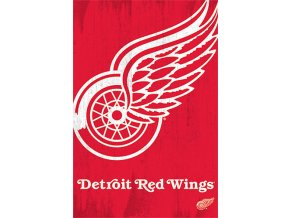 NHL Plakát Detroit Red Wings Team Logo Cut