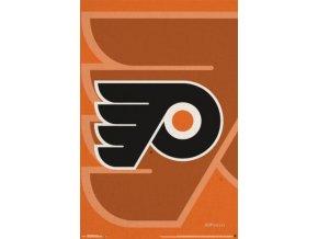 NHL Plakát Philadelphia Flyers Double Logo