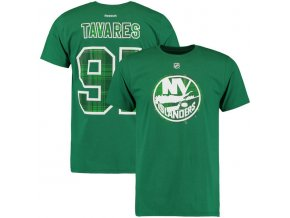 Tričko New York Islanders #91 John Tavares St. Paddy's Name & Number
