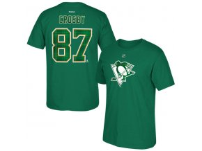 Tričko Pittsburgh Penguins #87 Sidney Crosby St. Paddy's Name & Number