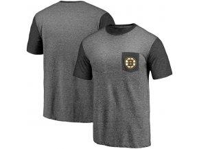 Tričko Boston Bruins Refresh Tri-Blend Pocket