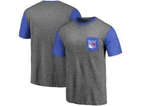 Tričko New York Rangers Refresh Tri-Blend Pocket