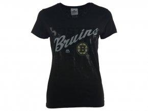 Dámské tričko Boston Bruins Majestic Hip Check
