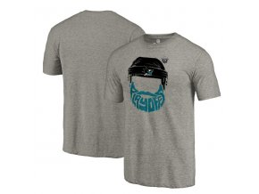 Tričko San Jose Sharks 2017 Stanley Cup Playoffs Participant Full Beard Tri-Blend