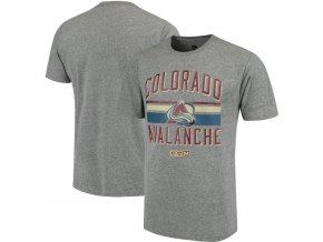 Tričko Colorado Avalanche CCM Classic Stripe Tri-Blend