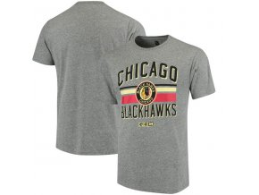 Tričko Chicago Blackhawks CCM Classic Stripe Tri-Blend