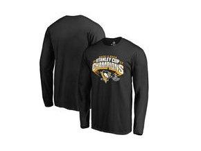 Tričko Pittsburgh Penguins Fanatics Branded 2017 Stanley Cup Champions Slapshot Long Sleeve T-Shirt - Black