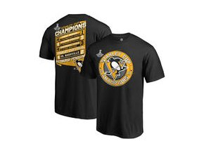 Tričko Pittsburgh Penguins Fanatics Branded 2017 Stanley Cup Champions Forward T-Shirt - Black