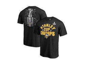 Tričko Pittsburgh Penguins Fanatics Branded 2017 Stanley Cup Champions Shootout Signature T-Shirt - Black