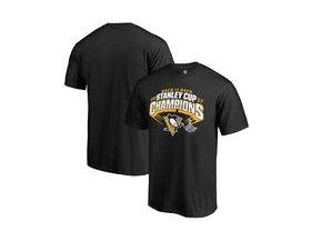 Tričko Pittsburgh Penguins Fanatics Branded 2017 Stanley Cup Champions Slapshot T-Shirt - Black