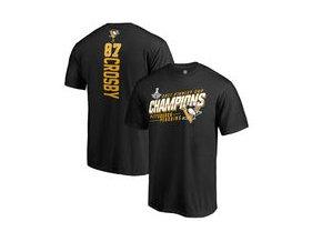 Tričko Sidney Crosby Pittsburgh Penguins Fanatics Branded 2017 Stanley Cup Champions Extra Backer T-Shirt - Black