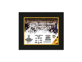 "Zarámovaná fotka Pittsburgh Penguins Fanatics Authentic 2017 Stanley Cup Champions 8"" x 10"" Matted Photo"