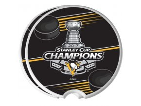 Keramické podtácky Pittsburgh Penguins 2017 Stanley Cup Champions Two-Pack Ceramic Car Coasters