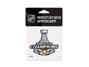 Samolepka Pittsburgh Penguins WinCraft 2017 Stanley Cup Champions 4'' x 4'' Perfect Cut Decal