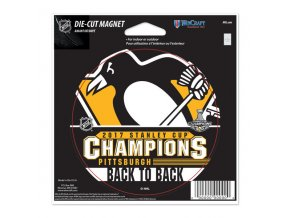 Magnet Pittsburgh Penguins WinCraft 2017 Stanley Cup Champions 5'' x 5'' Die-Cut Car Magnet