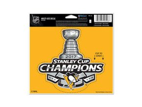 Samolepka Pittsburgh Penguins WinCraft 2017 Stanley Cup Champions 5'' x 6'' Multi-Use Decal