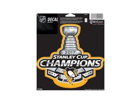 Samolepka Pittsburgh Penguins WinCraft 2017 Stanley Cup Champions 5'' x 7'' Vinyl Decal