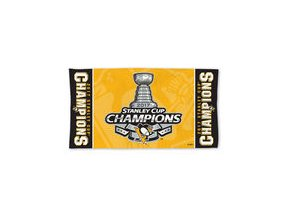 Osuška Pittsburgh Penguins WinCraft 2017 Stanley Cup Champions On Ice 22'' x 42'' Locker Room Towel
