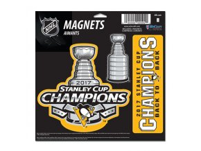 Magnet Pittsburgh Penguins WinCraft 2017 Stanley Cup Champions On Ice Locker Room Three-Pack Magnet Set