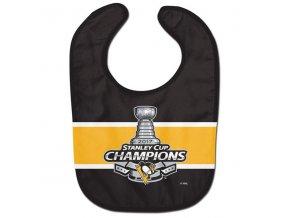 Dětský bryndák Pittsburgh Penguins WinCraft 2017 Stanley Cup Champions All-Pro Baby Bib