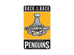 "Pittsburgh Penguins WinCraft 2017 Stanley Cup Champions 7"" x 12"" Small Champ Sign"