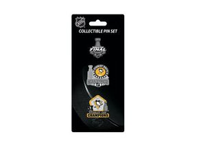 Odznaky Pittsburgh Penguins 2017 Stanley Cup Champions Pin Set