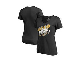 Dámské tričko Pittsburgh Penguins Fanatics Branded Women's 2017 Stanley Cup Champions Bender T-Shirt - Black