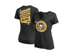 Dámské tričko Pittsburgh Penguins Fanatics Branded 2017 Stanley Cup Champions Forward V-Neck T-Shirt - Black
