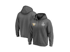 Mikina Pittsburgh Penguins Fanatics Branded 2017 Stanley Cup Champions Backhand Performance Full-Zip Hoodie - Black